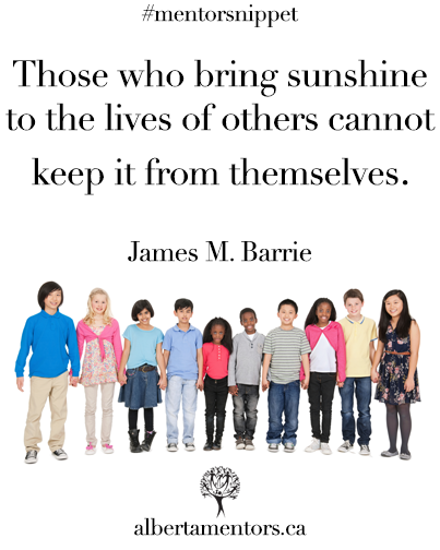 Those who bring sunshine to the lives of others cannot keep it from themselves. James M. Barrie
