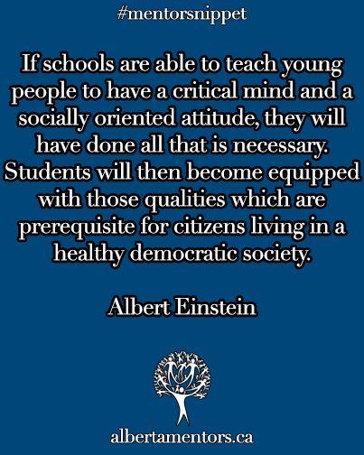 If schools are able to teach young people to have a critical mind and a socially oriented attitude, they will have done all that is neccessary. Students will then become equipped with those qualities which are prerequisite for citizens living in a healthy democratic society.