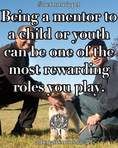 Being a mentor to a child or youth can be on of the most rewarding roles you play