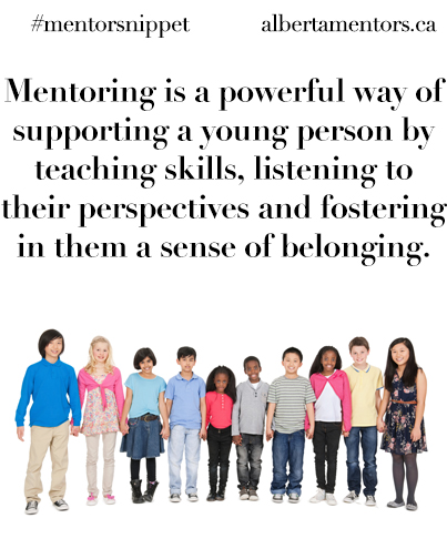 is a powerful way of supporting a young person by teaching skills, listening to their perspectives and fostering in them a sense of belonging.
